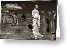 Vestal Virgin Courtyard Statue Greeting Card