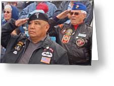 Veterans Saluting Passing Flag In A Parade Sacaton Arizona 2005-2013 Greeting Card