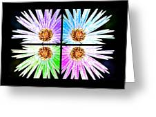Vexel Flower Collage Greeting Card