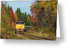 Fall Colours With Train Greeting Card
