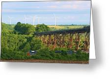 Viaduct And Train Greeting Card