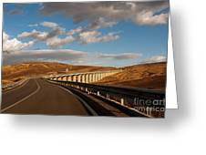 Viaduct In The Sicilian Countryside Greeting Card