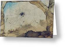 Vianden Through A Spider's Web Greeting Card by Victor Hugo