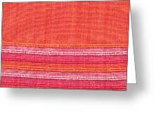Vibrant Cloth Greeting Card