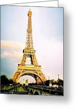 Vibrant Eiffel Tower Greeting Card