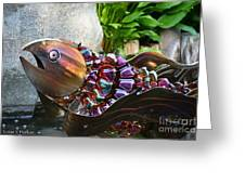 Vibrant Koi Greeting Card