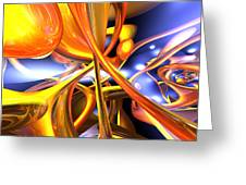 Vibrant Love Abstract Greeting Card