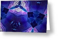 Vibrant Shades Of Blue 3 Greeting Card