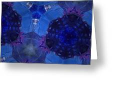 Vibrant Shades Of Blue 6 Greeting Card