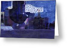Vibrant Shades Of Blue Greeting Card