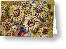Vibrant Sunflower Essence Greeting Card