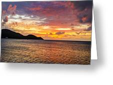Vibrant Tropical Sunset Greeting Card