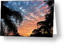 Vibrant Winter Sunset Greeting Card