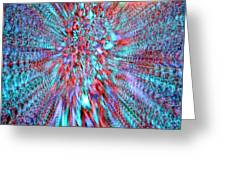 Vibrating Red And Blue Greeting Card