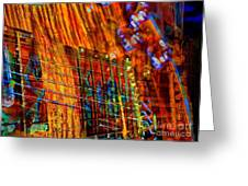 Vibrations Digital Guitar Art Bt Steven Langston Greeting Card by Steven Lebron Langston
