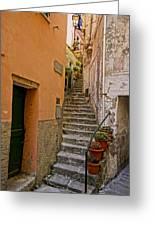 Vicolo Della Valle Riomaggiore Italy Dsc02537  Greeting Card