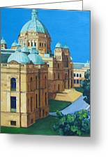 Victoria Bc Parliament Greeting Card