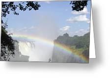 Victoria Falls Rainbow Greeting Card