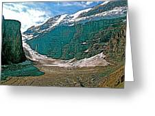 Victoria Glacier From Plain Of Six Glaciers In Banff Np-alberta Greeting Card
