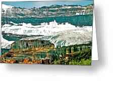 Victoria Glacier From Plain Of Six Glaciers Trail In Banff Np-ab Greeting Card