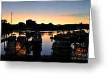 Victoria Harbor Sunset 3 Greeting Card