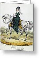 Victoria Of England, C1837 Greeting Card