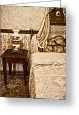 Victorian Bedroom Greeting Card