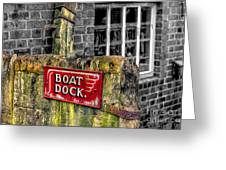 Victorian Boat Dock Sign Greeting Card by Adrian Evans