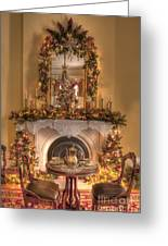 Victorian Christmas By The Fire Greeting Card