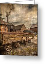 Victorian Colliery Greeting Card by Adrian Evans