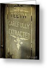 Victorian Dentist Sign Greeting Card