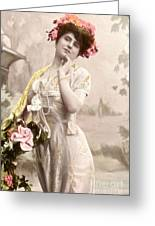 Victorian Floral Market Greeting Card