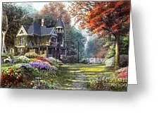 Victorian Garden Greeting Card