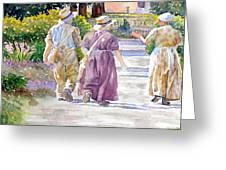 Victorian Gardeners Greeting Card