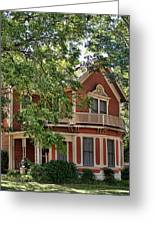 Victorian Home Of Georgetown Texas Greeting Card