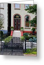 Victorian House Lafayette Sq St Louis Greeting Card