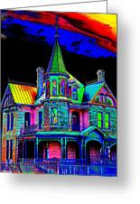 Victorian House Pop Art Greeting Card