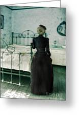 Victorian Lady In A Bedroom Greeting Card