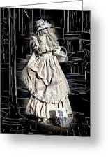 Victorian Lady Greeting Card by John Haldane
