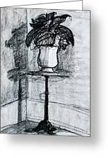 Victorian Plant Stand Greeting Card by Anita Dale Livaditis