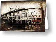 Victorian Roller Coaster Greeting Card