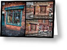Victorian Shops Greeting Card by Adrian Evans