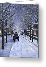 Victorian Snow Greeting Card by Alecia Underhill
