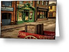 Victorian Town Greeting Card