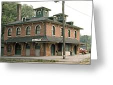 Victorian Train Station Galena Illinois Greeting Card