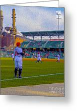 Victory Field Catcher 1 Greeting Card