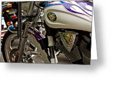 Victory Motorcycle Engine Greeting Card