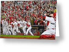 Victory - St Louis Cardinals Win The World Series Title - Friday Oct 28th 2011 Greeting Card