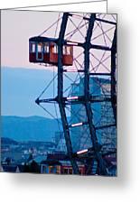 Vienna Ferris Wheel Greeting Card by Viacheslav Savitskiy