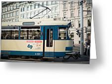 Vienna Tram Greeting Card